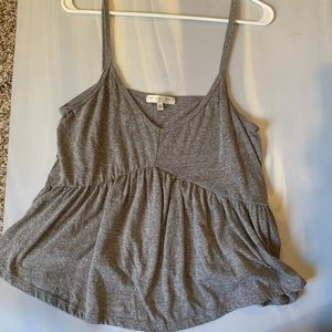 Truly Madly Deeply Gray Peplum Tank Top